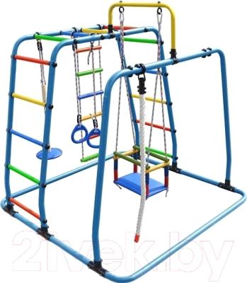 Детский спортивный комплекс Формула здоровья Игрунок-Т Плюс (голубой/радуга)