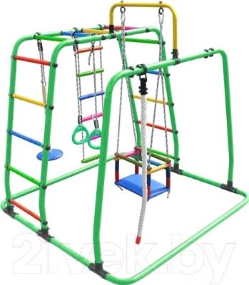 Детский спортивный комплекс Формула здоровья Игрунок-Т Плюс (салатовый/радуга)