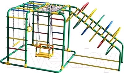 Детский спортивный комплекс Формула здоровья Счастливчик-Х Плюс (зеленый/радуга)