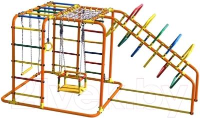 Детский спортивный комплекс Формула здоровья Счастливчик-Х Плюс (оранжевый/радуга)