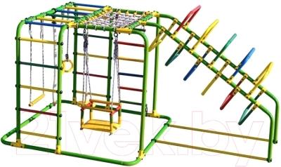 Детский спортивный комплекс Формула здоровья Счастливчик-Х Плюс (салатовый/радуга)