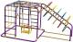 Детский спортивный комплекс Формула здоровья Счастливчик-Х Плюс (фиолетовый/радуга) -