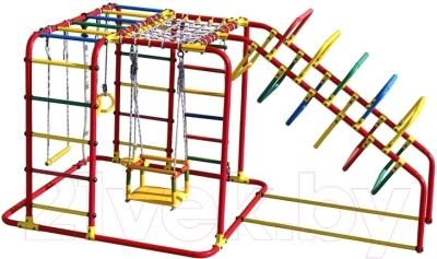 Детский спортивный комплекс Формула здоровья Счастливчик-Х Плюс (красный/радуга)