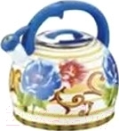 Чайник со свистком Peterhof PH-15606 (синяя ручка)