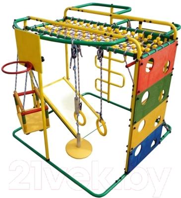 Детский спортивный комплекс Формула здоровья Мурзилка-S (зеленый/радуга)