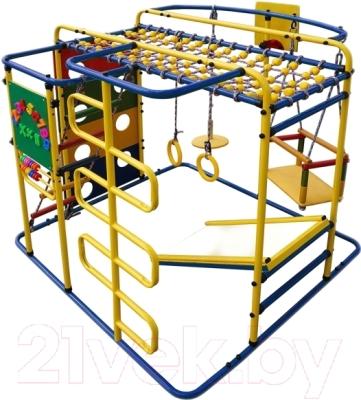 Детский спортивный комплекс Формула здоровья Мурзилка-S (синий/радуга)