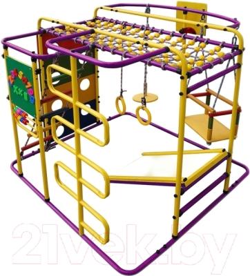 Детский спортивный комплекс Формула здоровья Мурзилка-S (фиолетовый/радуга)
