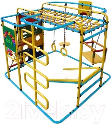 Детский спортивный комплекс Формула здоровья Мурзилка-S (голубой/радуга)