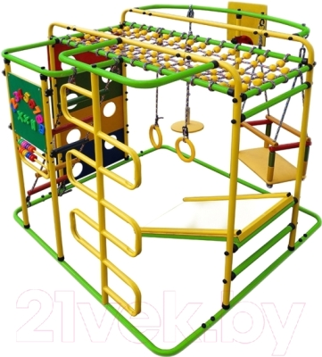 Детский спортивный комплекс Формула здоровья Мурзилка-S (салатовый/радуга)