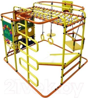 Детский спортивный комплекс Формула здоровья Мурзилка-S (оранжевый/радуга)