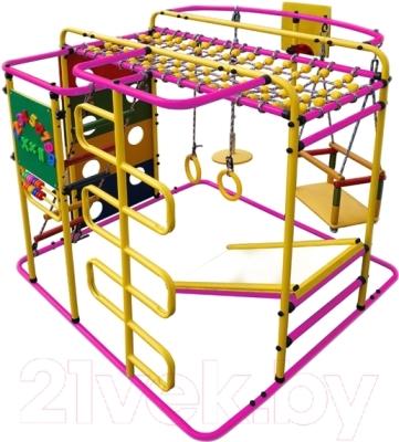 Детский спортивный комплекс Формула здоровья Мурзилка-S (розовый/радуга)