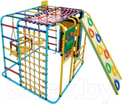 Детский спортивный комплекс Формула здоровья Кубик-У Плюс (голубой/радуга)