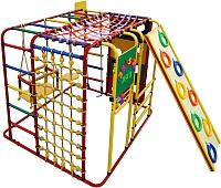 Детский спортивный комплекс Формула здоровья Кубик-У Плюс (красный/радуга) -