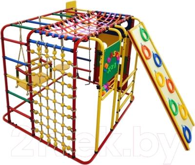 Детский спортивный комплекс Формула здоровья Кубик-У Плюс (красный/радуга)
