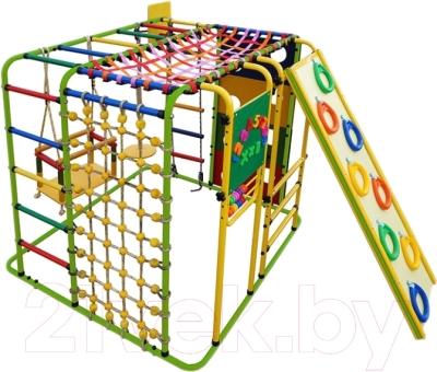 Детский спортивный комплекс Формула здоровья Кубик-У Плюс (салатовый/радуга)