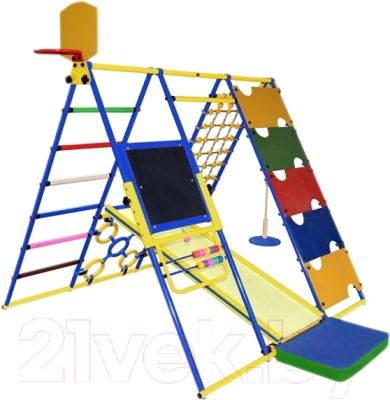 Детский спортивный комплекс Формула здоровья Вершинка-W Плюс (синий/радуга)