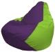 Бескаркасное кресло Flagman Груша Мини Г0.1-31 (фиолетовый/салатовый) -