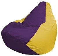 Бескаркасное кресло Flagman Груша Мини Г0.1-35 (фиолетовый/желтый) -