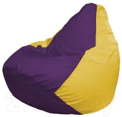 Бескаркасное кресло Flagman Груша Мини Г0.1-35 (фиолетовый/желтый)