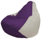 Бескаркасное кресло Flagman Груша Мини Г0.1-36 (фиолетовый/белый) -