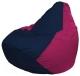 Бескаркасное кресло Flagman Груша Мини Г0.1-37 (темно-синий/фуксия) -