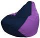 Бескаркасное кресло Flagman Груша Мини Г0.1-40 (темно-синий/сиреневый) -
