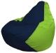 Бескаркасное кресло Flagman Груша Мини Г0.1-43 (темно-синий/салатовый) -
