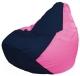 Бескаркасное кресло Flagman Груша Мини Г0.1-44 (темно-синий/розовый) -