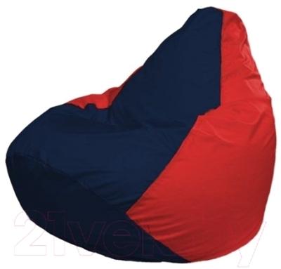Бескаркасное кресло Flagman Груша Мини Г0.1-46 (темно-синий/красный)