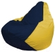 Бескаркасное кресло Flagman Груша Мини Г0.1-47 (темно-синий/желтый) -