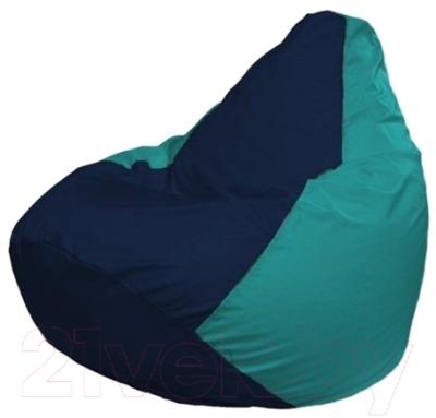 Бескаркасное кресло Flagman Груша Мини Г0.1-50 (темно-синий/бирюзовый)