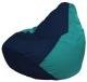 Бескаркасное кресло Flagman Груша Мини Г0.1-50 (темно-синий/бирюзовый) -