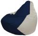 Бескаркасное кресло Flagman Груша Мини Г0.1-51 (темно-синий/белый) -