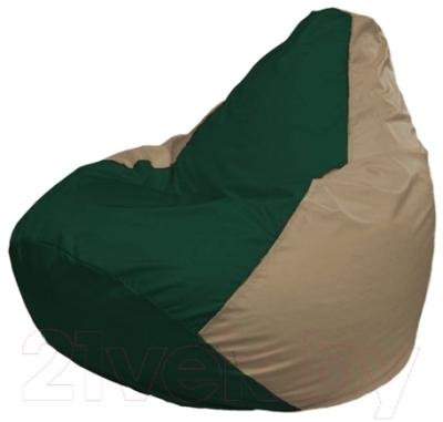 Бескаркасное кресло Flagman Груша Мини Г0.1-60 (темно-зеленый/темно-бежевый)