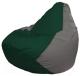 Бескаркасное кресло Flagman Груша Мини Г0.1-61 (темно-зеленый/серый) -
