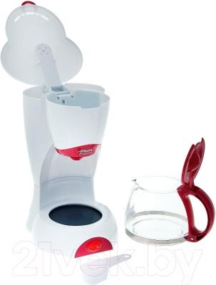 Капельная кофеварка Atlanta ATH-541 (белый/красный)