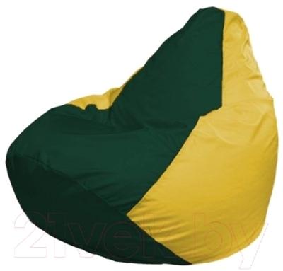 Бескаркасное кресло Flagman Груша Мини Г0.1-65 (темно-зеленый/желтый)