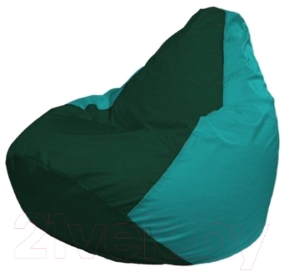 Бескаркасное кресло Flagman Груша Мини Г0.1-66 (темно-зеленый/бирюзовый)