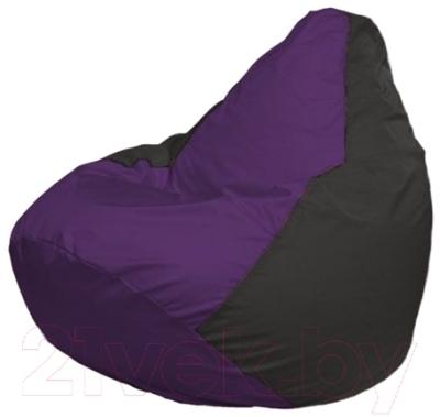 Бескаркасное кресло Flagman Груша Мини Г0.1-67 (фиолетовый/черный)
