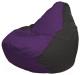 Бескаркасное кресло Flagman Груша Мини Г0.1-67 (фиолетовый/черный) -