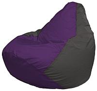 Бескаркасное кресло Flagman Груша Мини Г0.1-69 (фиолетовый/темно-серый) -
