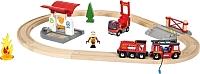 Железная дорога детская Brio Пожарная станция 33815 -