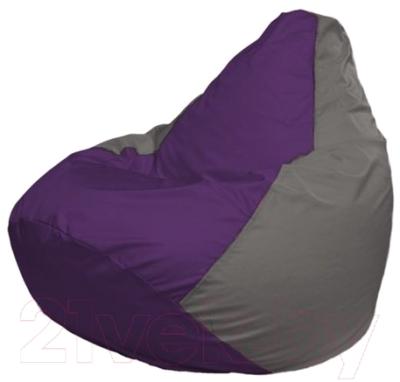 Бескаркасное кресло Flagman Груша Мини Г0.1-72 (фиолетовый/серый)