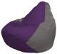 Бескаркасное кресло Flagman Груша Мини Г0.1-72 (фиолетовый/серый) -