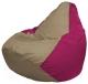 Бескаркасное кресло Flagman Груша Мини Г0.1-78 (темно-бежевый/фуксия) -