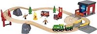 Железная дорога детская Brio Пожарная команда спасателей 33817 -