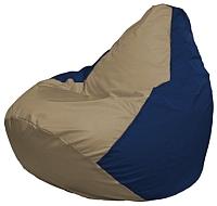 Бескаркасное кресло Flagman Груша Мини Г0.1-80 (темно-бежевый/темно-синий) -