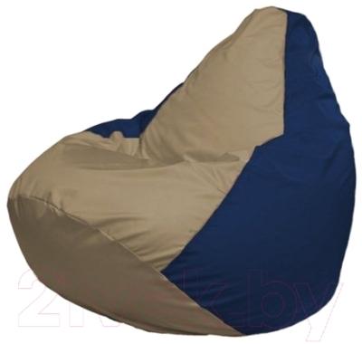 Бескаркасное кресло Flagman Груша Мини Г0.1-80 (темно-бежевый/темно-синий)