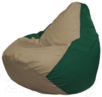 Бескаркасное кресло Flagman Груша Мини Г0.1-83 (темно-бежевый/темно-зеленый)