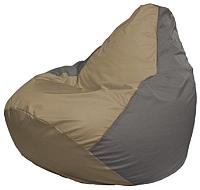 Бескаркасное кресло Flagman Груша Мини Г0.1-86 (темно-бежевый/серый) -